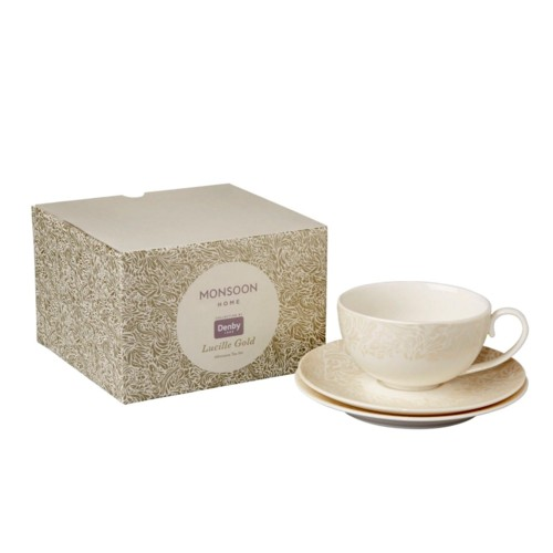 Monsoon Lucille Gold Afternoon Tea Set